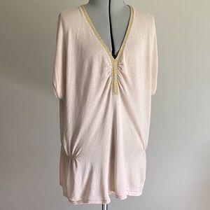 August Silk Dressy Knit Top EUC Size MEDIUM
